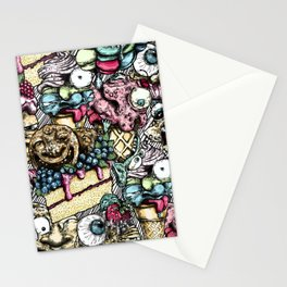 Graphic faces Stationery Cards