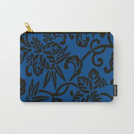Antique Japanese Pattern : Navy Blue Carry-All Pouch