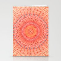 health Stationery Cards featuring Mandala mental health by Christine baessler