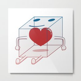 Healthy Little Box of Heart Metal Print