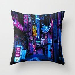 Tokyo's Blade Runner Vibes Throw Pillow