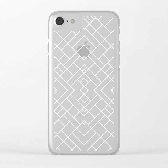 PS Grid 45 Black Clear iPhone Case