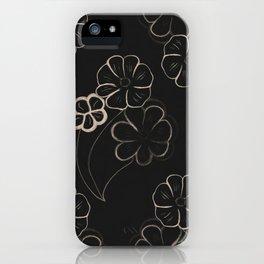 Light Sepia Flower Pattern #1 #drawing #decor #art #society6 iPhone Case