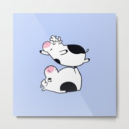 Acroyoga Cow Metal Print