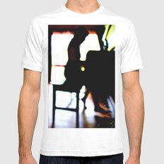 Seeing MEDIUM White Mens Fitted Tee