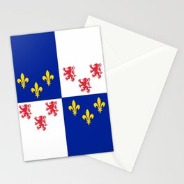historic flag of picardie Stationery Cards
