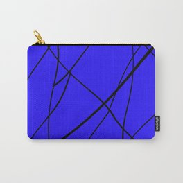 blue & black mess Carry-All Pouch