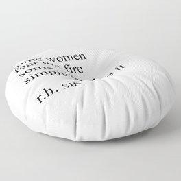 R.H. sin quote Floor Pillow