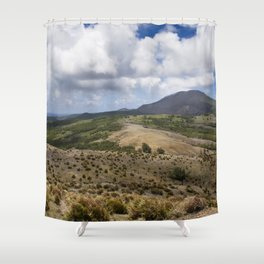 Pagan's North Volcano Shower Curtain
