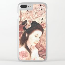 Asian Rose Clear iPhone Case