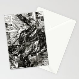 Breaking Loose - Charcoal on Newspaper Figure Drawing Stationery Cards