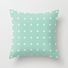 Mint Cross // Mint Plus ///www.pencilmeinstationery.com Throw Pillow