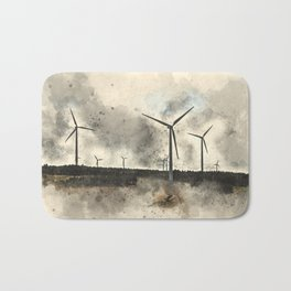 windmills, where's Don Quixote? Bath Mat