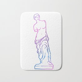Antique Venus de Milo line art Bath Mat