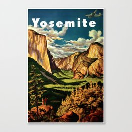 Yosemite National Park - Vintage Travel Canvas Print