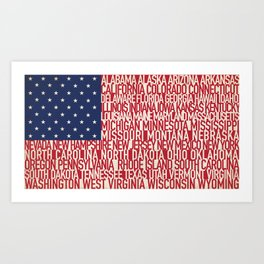 American Type Flag Art Print