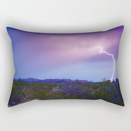 Lightning in Arizona Rectangular Pillow