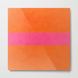 orange and hot pink classic Metal Print