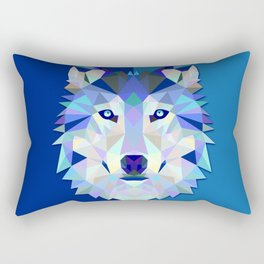 Graphic Wolf Rectangular Pillow