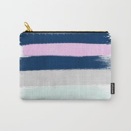 Stripes painterly pastel trendy color way throwback retro palette 80s 90s style Carry-All Pouch