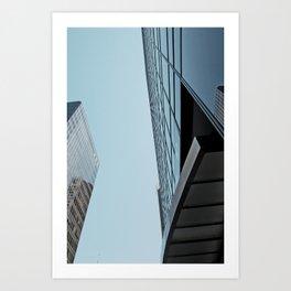 Blue Skyscrapers  Art Print