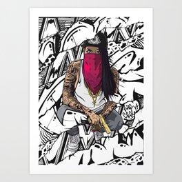 The Crazy One Art Print