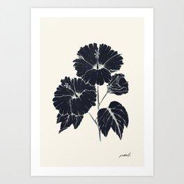 Hibiscus Negros Art Print