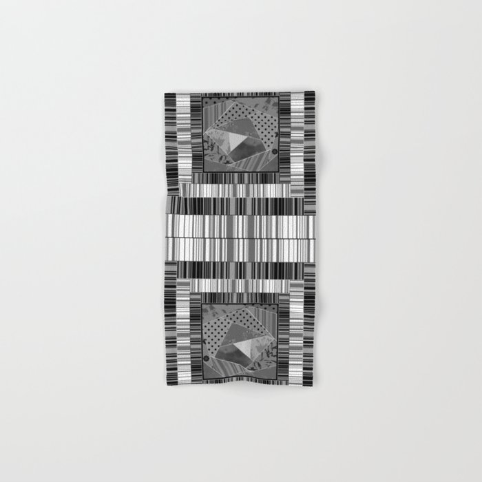Abstract pattern . Patchwork striped . Hand & Bath Towel
