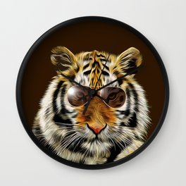 In the Eye of the Tiger Wall Clock