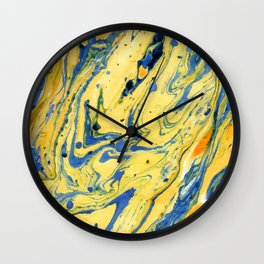 Colors on the Lake #abstract #society6 #decor Wall Clock