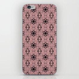 Bridal Rose Floral Geometric Pattern iPhone Skin