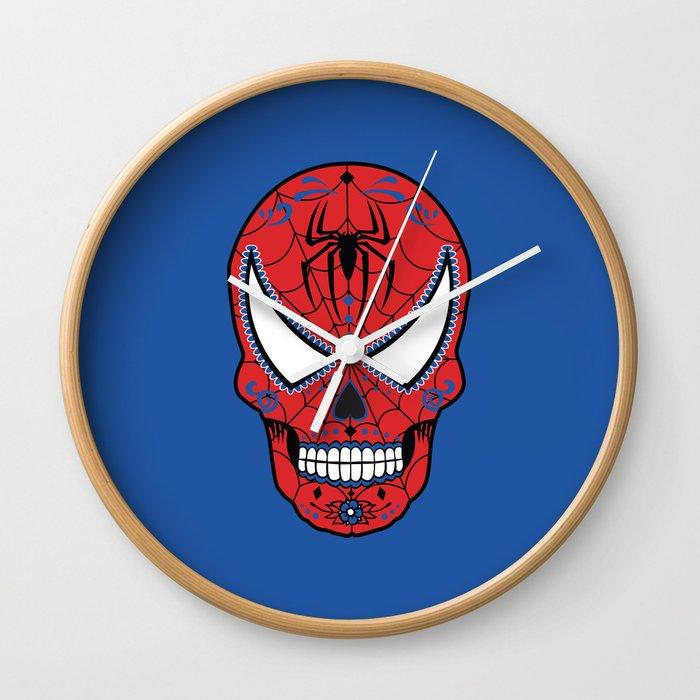 Spidey Sugar Skull Wall Clock