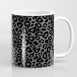 Gray and Black Exotic Leopard Animal Pattern Coffee Mug