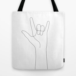 Love Hand Gesture Tote Bag