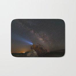Milky Way over Borrego Springs J E E P sculpture Bath Mat