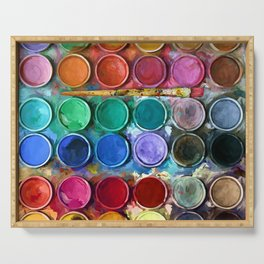 Pallet Abstract Art Serving Tray