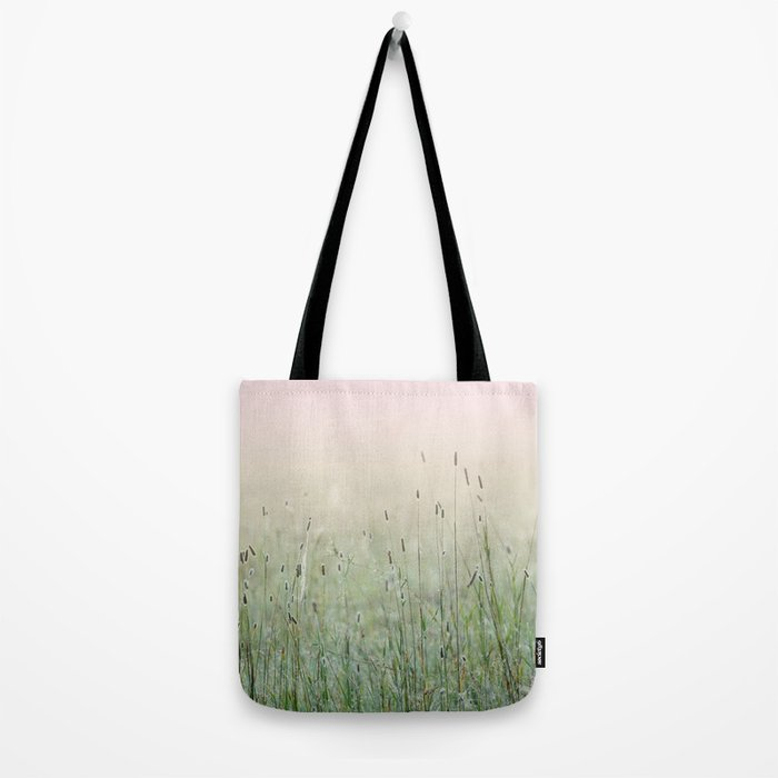 Idyllic Grass Field in the Morning Sun Tote Bag