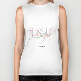 London Subway Map Print - London Metro Biker Tank