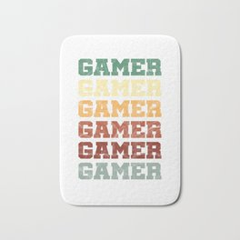 Typography Gaming Gamers Computer Games Awesome Retro Vintage Videogamer Gift Bath Mat