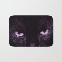 Black Cat in Amethyst - My Familiar Bath Mat