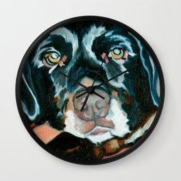 Daisy the Black Lab Dog Portrait Wall Clock