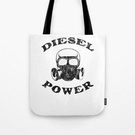 Diesel Power Gas Mask Skull Truck Offroad Black Glass Tote Bag