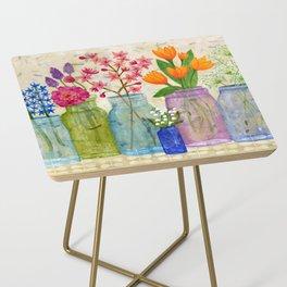 Springs Flowers in Old Jars Side Table