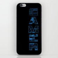 gamer iPhone & iPod Skins featuring Gamer  by Angela Felan