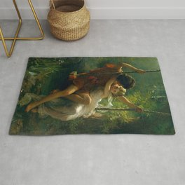 Pierre Auguste Cot Spring Time Rug
