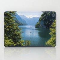 germany iPad Cases featuring Germany, Malerblick, Koenigssee Lake III by UtArt