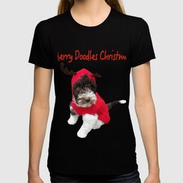 Merry Doodles Christmas Labradoodle T-shirt