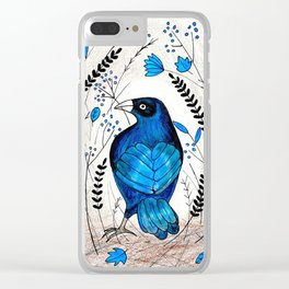 Bowerbird's Treasures Clear iPhone Case