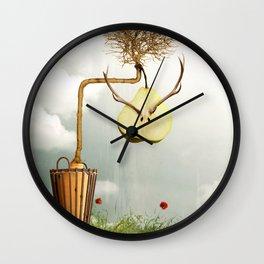 Deer Pear Wall Clock