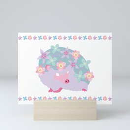 Spring Hedgehog ~ FAIRY VAR Mini Art Print